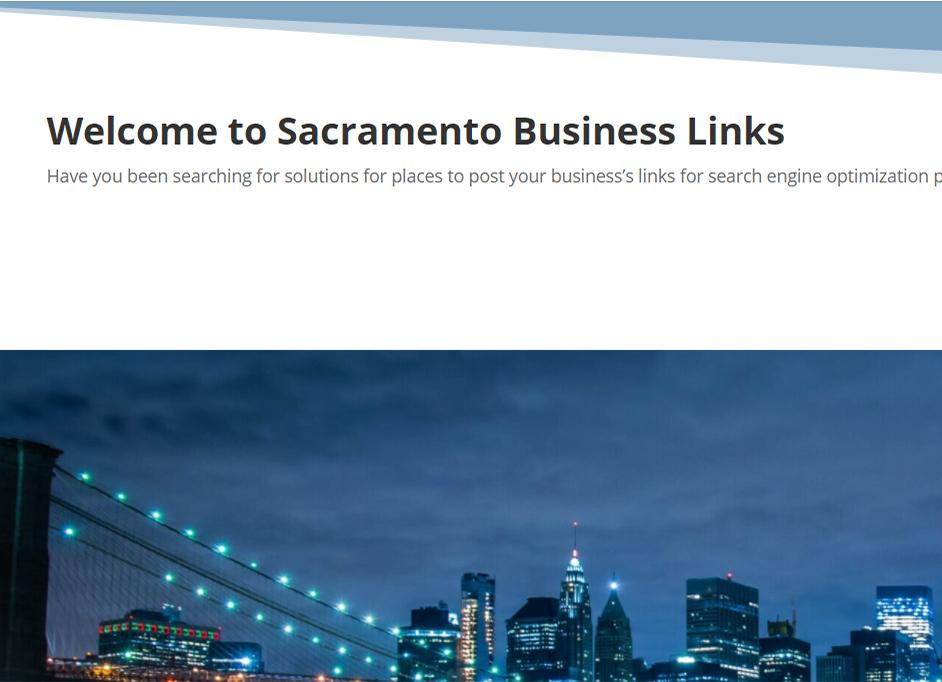 Sacramento Business Links